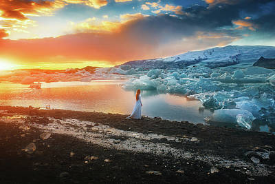 Fire And Ice Print by TJ Drysdale