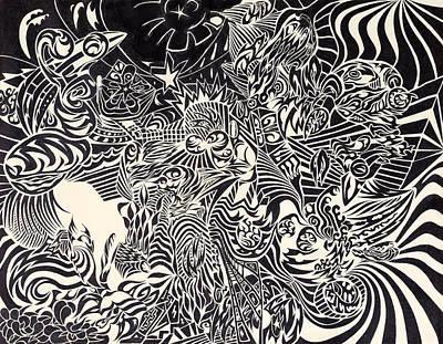 Fire Breathing Cow Original by Sean Corcoran