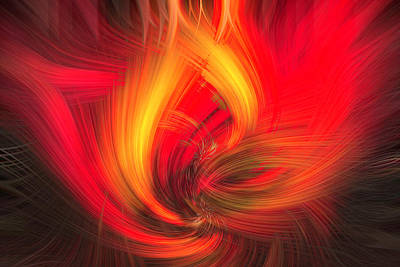 Abstract Photograph - Fire by Cathy Donohoue