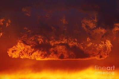 Fire Clouds Print by Michal Boubin