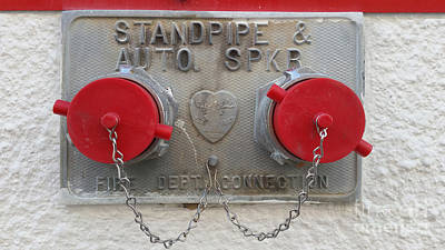 Photograph - Fire Department Connection by Liane Wright