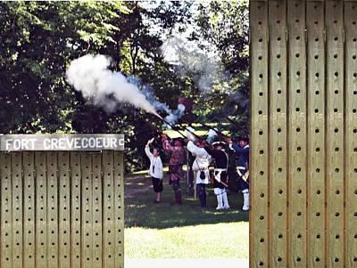 Creve Coeur Park Mixed Media - Fire by Elizabeth Celio