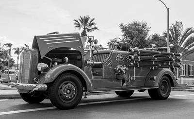 Fire Engine Print by Phil Fitzgerald
