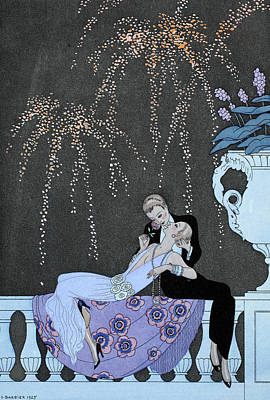 Fireworks Drawing - Fire by Georges Barbier