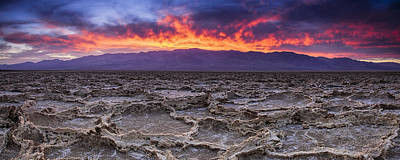Fire In The Desert Print by Andrew Soundarajan