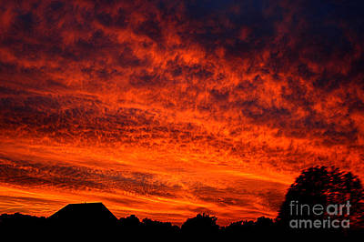 Fired Clay Photograph - Fire In The Sky by Clayton Bruster