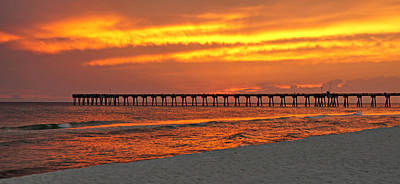 Panama City Beach Fl Photograph - Fire In The Sky by Sandy Keeton