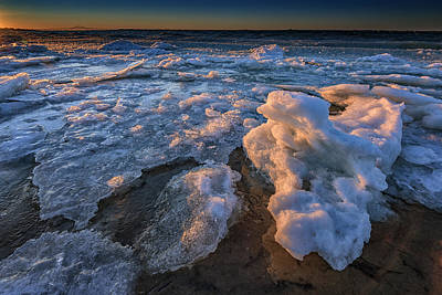 Fire Island Ice Print by Rick Berk