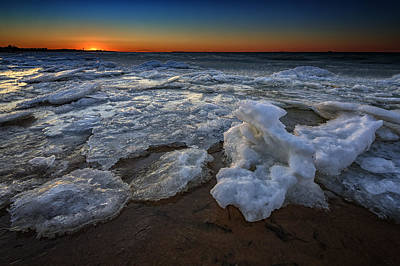 Babylon Photograph - Fire Island Icy Shores by Rick Berk