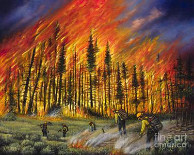 Dalmation Painting - Fire Line 1 by Ricardo Chavez-Mendez