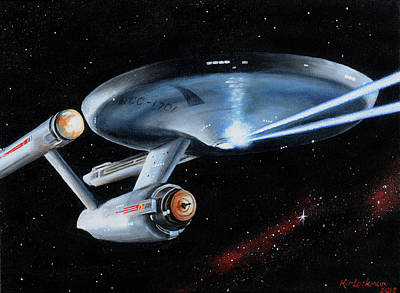 Star Trek Painting - Fire Phasers by Kim Lockman