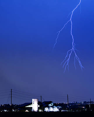 Fire Rescue Station 67  Lightning Thunderstorm 2c Print by James BO  Insogna