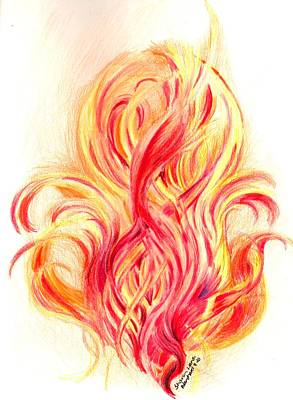 Fire  Original by Sharon Blanchard