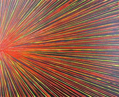 Pentagram Art Painting - Fire Sun 2 by Embrace the Matrix