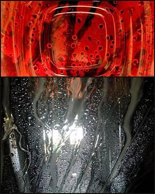 Fire Water Print by Marlene Burns