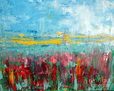 Julie Lueders Artwork Painting - Fire Weed by Julie Lueders