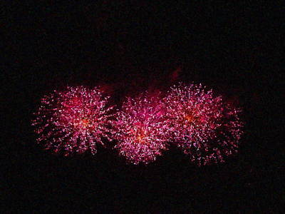 Photograph - Fire Works Show Stippled Paint 8 Canada by Dawn Hay