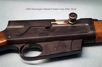 Firearms 1906 Remington Model 8 Semi Auto Rifle 25cal Print by Thomas Woolworth