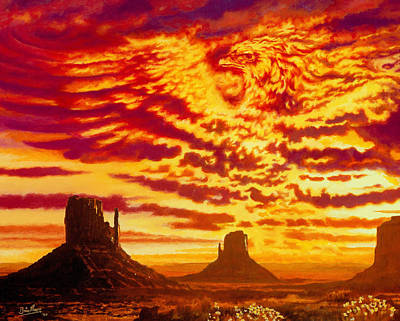 Arizona Painting - Firebird by Brian Moore