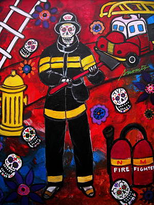 Fireman Painting - Firefighter by Pristine Cartera Turkus