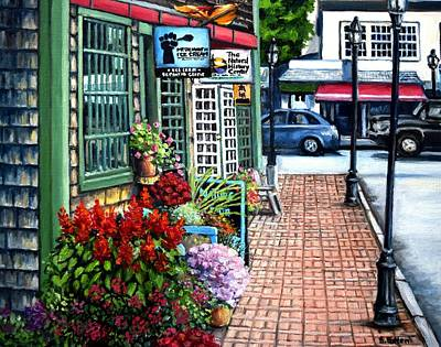 Firefly Lane Bar Harbor Maine Original by Eileen Patten Oliver