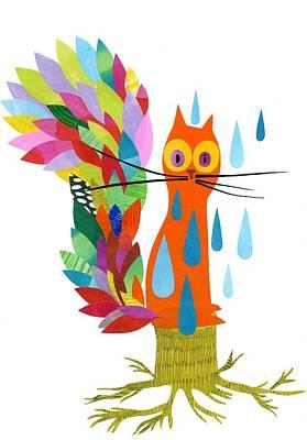 Firefox Print by Anne Vasko