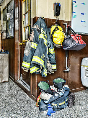 Fireman - Always Ready Print by Paul Ward