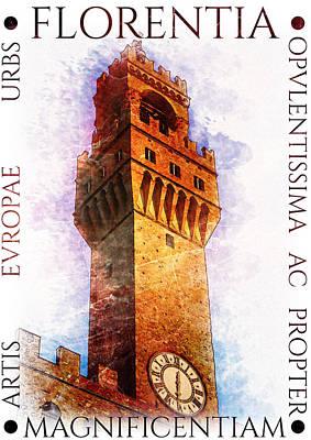 Firenze Magnifica Print by Diana Van