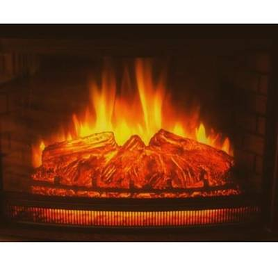 Fantasy Photograph - #fireplace #fire #flame #logs #wood by David Haskett