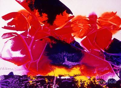 Ink Painting - Firestorm A Symbolic Depiction In Colored Inks by Phil Albone