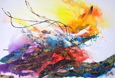 Painting - Firestorm by Helen Harris