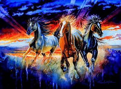 Horse Artist Painting - Firewater by Hanne Lore Koehler