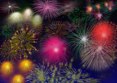Fireworks Original by Carol Mallillin-Tsiatsios