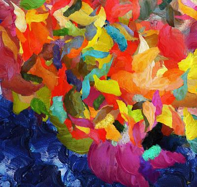 Fireworks - Deep In The Woods - Pop -painting Original by Sir Josef Social Critic - ART