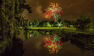 4th July Photograph - Fireworks During Fair St Louis In Forest Park by Garry McMichael