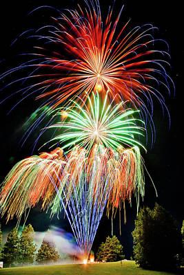 Fireworks No.1 Print by Niels Nielsen