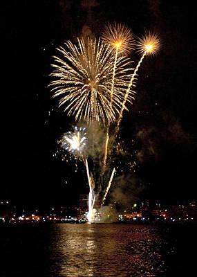Photograph - Fireworks by Nora Blansett