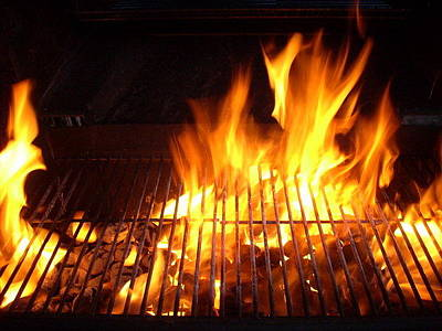 Que Photograph - Firey Bar-b-que by Christine Doyle