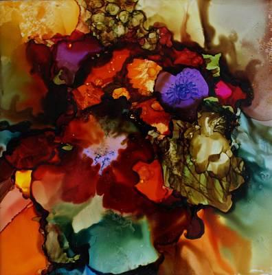Firey Floral Original by Joanne Smoley