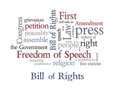 Free Speech Digital Art - First Amendment - Bill Of Rights by Antique Images