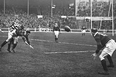 Rugby Photograph - First Challenge Cup At Wembley by Underwood Archives