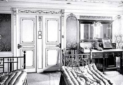 First Class Stateroom C65 On Titanic Print by The Titanic Project