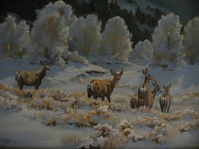 Art Of Mia Delode Painting - First Cold Snap by Mia DeLode