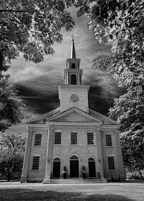 Religious Art Photograph - First Congregational Church Of Stockbridge by Stephen Stookey