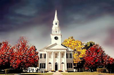 First Congregational Church Of Litchfield Print by Diana Angstadt