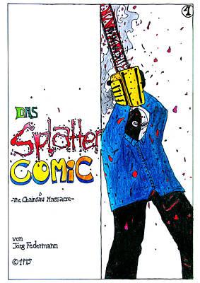 Dark Evil Scary Drawing - First Cover Jjr Comic From 1995  by Joerg Federmann Typhoonart