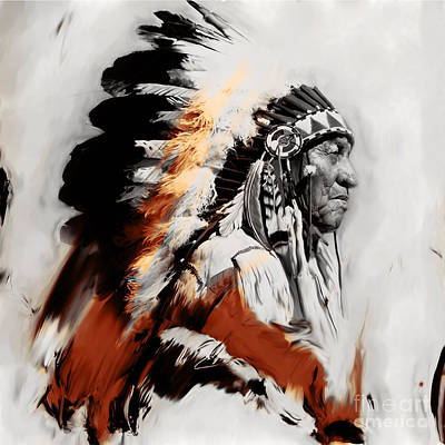 First Tribes Painting - First Generation 02a by Gull G