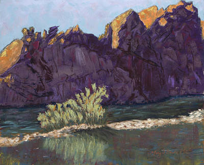 First Light At Picnic Rock Print by Mary Benke