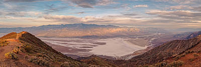 First Light On The Panamint Mountains From Dante's View - Death Valley National Park California Print by Silvio Ligutti