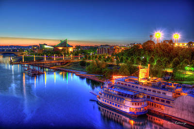First Light Sunrise Chattanooga Tennessee Print by Reid Callaway